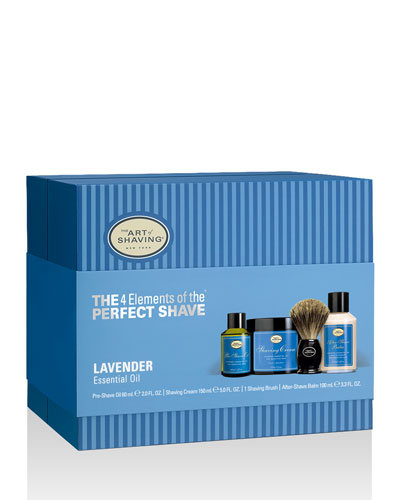 4 Elements of the Perfect Shave Full-Size Kit, Lavender