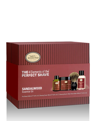 4 Elements of the Perfect Shave Full-Size Kit, Sandalwood