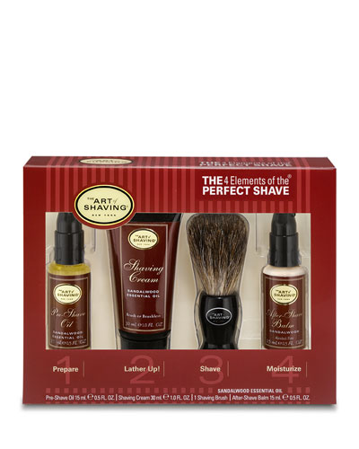 4 Elements of the Perfect Shave Starter Kit, Sandalwood