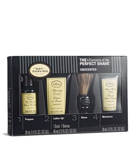 4 Elements of the Perfect Shave Mid-Size Kit, Unscented