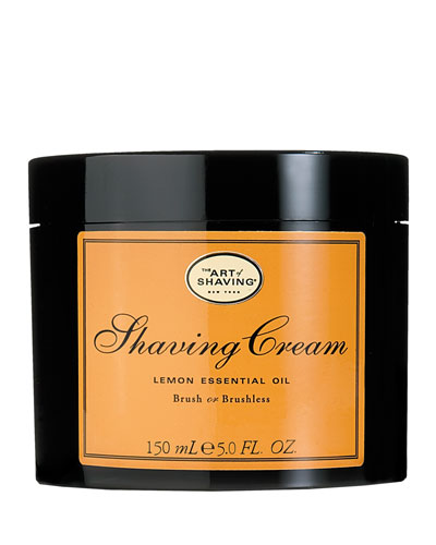 Brush or Brushless Shaving Cream, Lemon