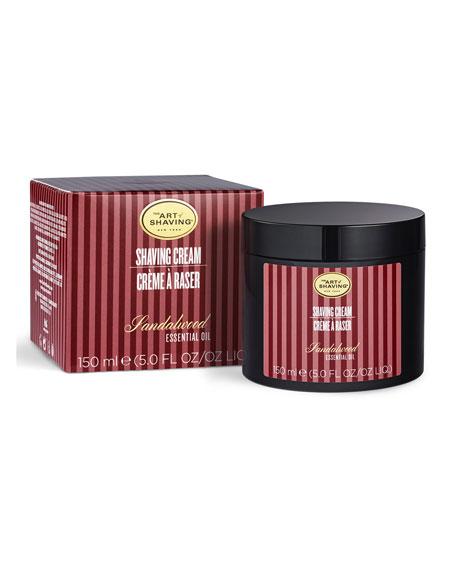 Brush or Brushless Shaving Cream, Sandalwood