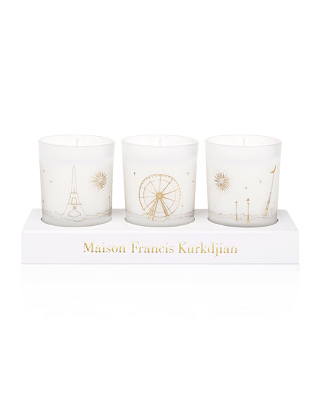 Three Scented Candles Set, 70 g each