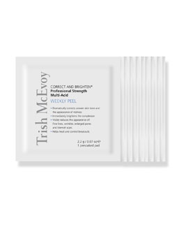 Trish McEvoy CORRECT AND BRIGHTEN Professional Strength Multi-Acid Weekly Peel, 12ct