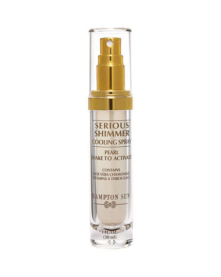 Hampton Sun Serious Shimmer Cooling Spray in Pearl, 1 oz.