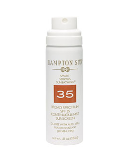 Hampton Sun Continuous Mist Broad Spectrum SPF 35 Sunscreen, 1.0oz