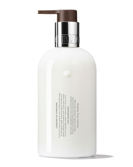 Delicious Rhubarb & Rose Hand Lotion, 10 oz./ 300 mL