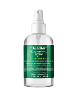 Kiehl's Since 1851 Oil Eliminator Refreshing Shine Control Toner for Men, 6.0 oz.