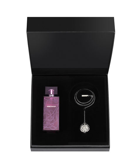 Lalique Amethyst Eau De Parfum Set and Scented