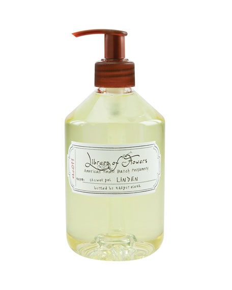 Library of Flowers Linden Shower Gel, 16 oz.