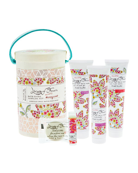 Library of Flowers Honeycomb Field Bath Goods Sampling