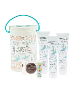 Library of Flowers True Vanilla Field Bath Goods Sampling Kit