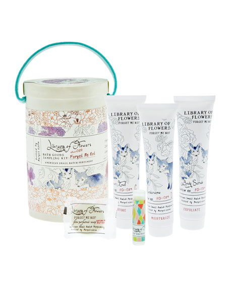 Library of Flowers Forget Me Not Bath Goods