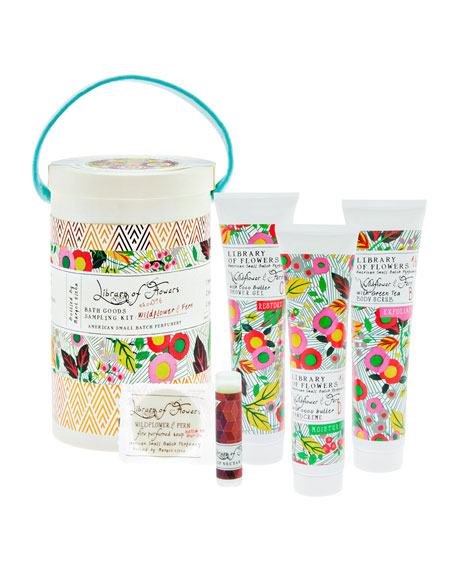 The Wildflower & Fern Field Bath Goods Sampling Kit