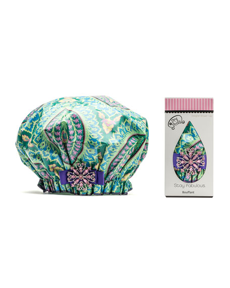 Designer Shower Cap, Emerald Joy