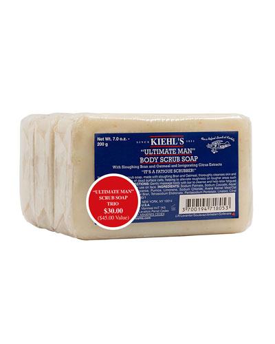 Kiehl's Since 1851 Ultimate Man Body Scrub Soap Trio