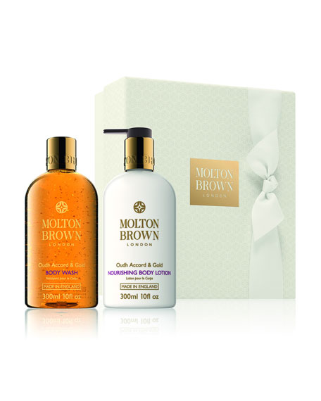 molton brown neiman marcus exclusive oudh accord gold body gift set. Black Bedroom Furniture Sets. Home Design Ideas