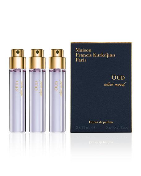 OUD velvet mood Eau de Parfum Spray Refills, 3 x 0.37 oz./ 11 mL