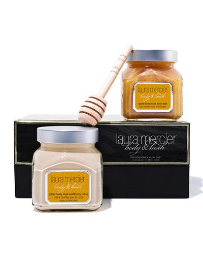 Laura Mercier LIMITED EDITION Body & Bath Duet, Golden Honey Musk, 6 oz. each
