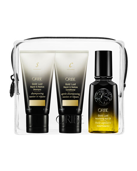 Oribe Liquid Gold Collection Holiday Bag