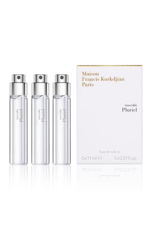 Maison Francis Kurkdjian 3 x 0.37 oz. masculin Pluriel Eau de Toilette Travel Spray Refills