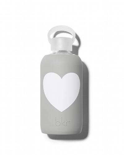 Glass Water Bottle, London Heart, 500 mL