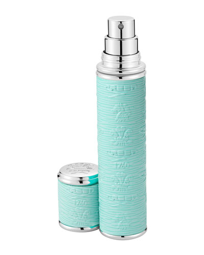 Pocket Atomizer in Turquoise Leather with Silver Trim