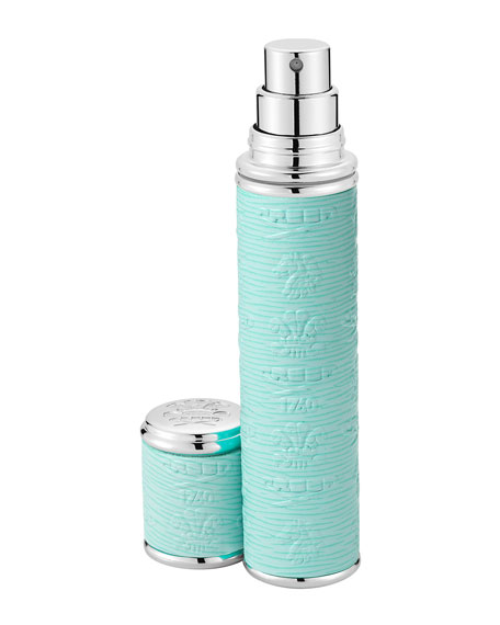 Pocket Atomizer in Turquoise Leather with Silver Trim, .3 oz./ 10 mL