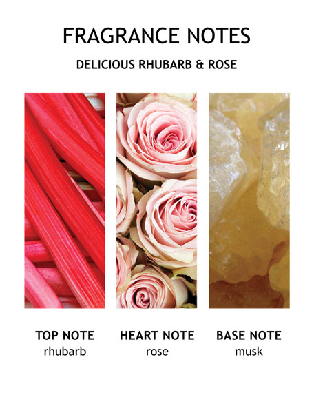Delicious Rhubarb & Rose Bath & Shower Gel, 10 oz./ 300 mL