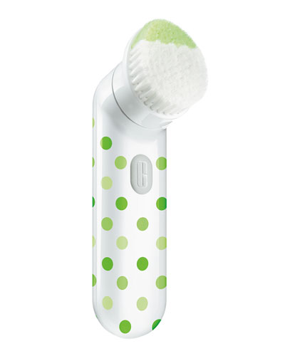 Limited Edition Clinique Sonic System Purifying Cleansing Brush, Green Polka Dot
