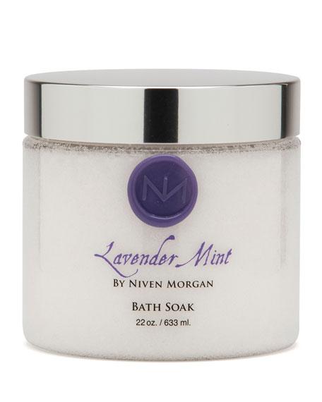 Niven Morgan Lavender Mint Bath Salt Jar, 22