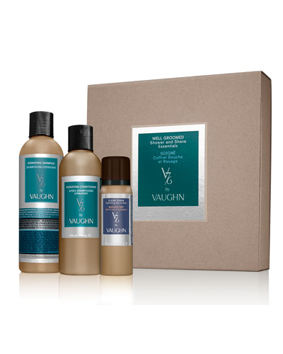 Well Groomed Shower and Shave Essentials Set