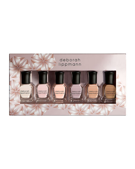 Deborah Lippmann Undressed 6-Piece Nude Nail Polish Set,