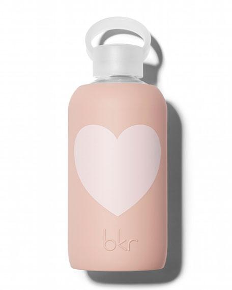 Glass Water Bottle, Naked Heart, 500 mL