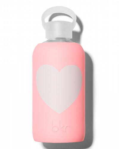 Glass Water Bottle, Elle Heart, 500 mL