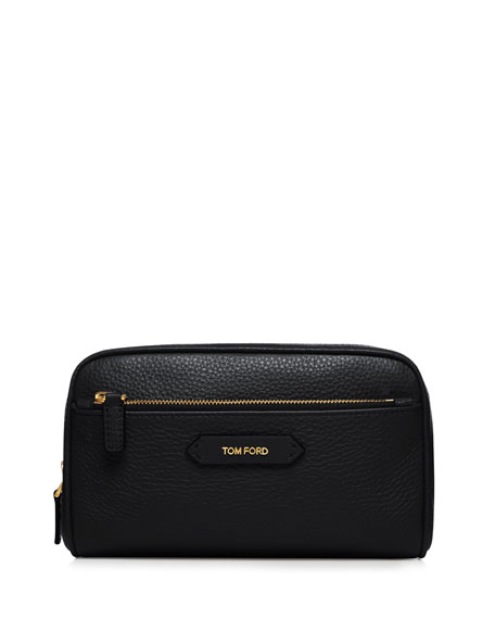 TOM FORD Beauty Large Leather Cosmetics Bag, Black