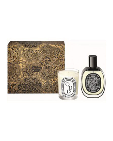 Diptyque Oud Scented Candle and Eau de Parfum