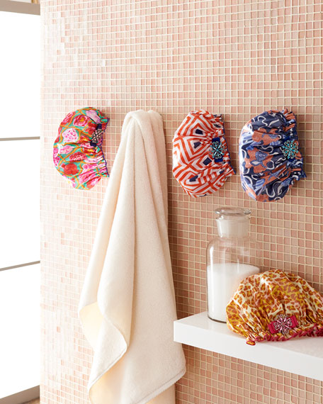 Shower Cap with Vintage Brooch, Passion 4 Fashion