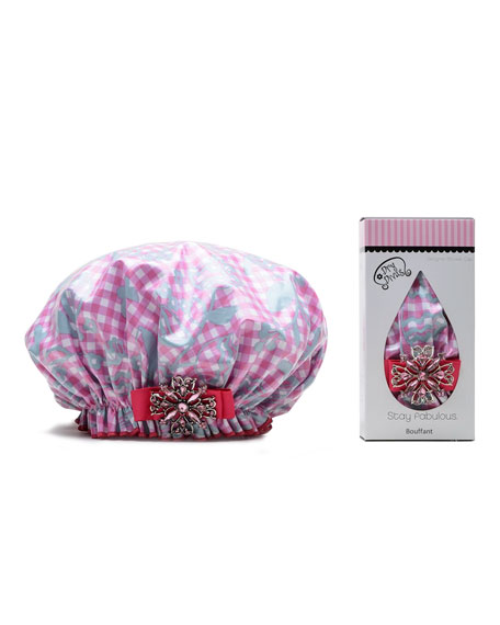 Dry Divas Glorious Gingham Bouffant Shower Cap