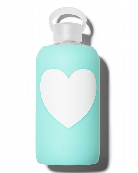 Glass Water Bottle, Float Heart, 1L