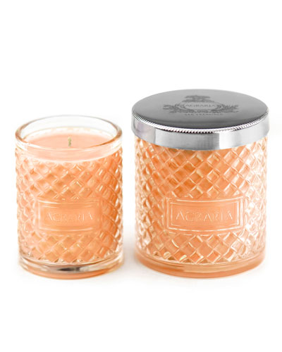 Bitter Orange Woven Crystal Candle, 7 oz. & Complimentary Petite Candle, 3.4 oz. (A $93 Value)