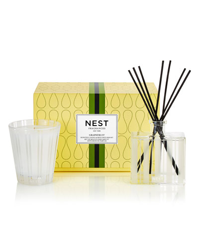 Classic Candle & Reed Diffuser Set - Grapefruit ($82 Value)