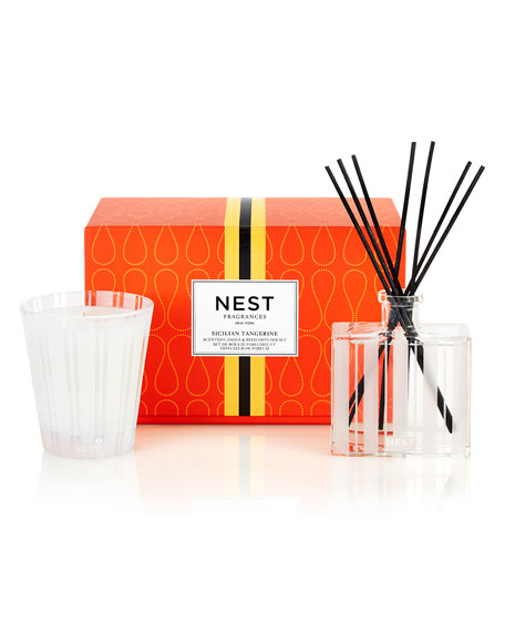 Classic Candle & Reed Diffuser Set - Sicilian Tangerine  ($82 Value)