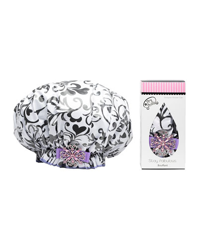 I Heart You Bouffant Diva Shower Cap