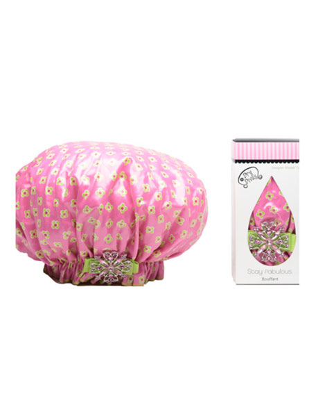 He Loves Me, He Loves Me Not Bouffant Diva Shower Cap