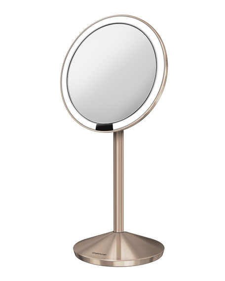 "5"" Sensor Makeup Mirror with Travel Case, Rose Gold Finish"