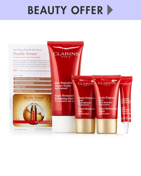 Receive a free 5-piece bonus gift with your $150 Clarins purchase