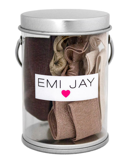 Emi Jay Brown Ombre Hair Ties in Paint