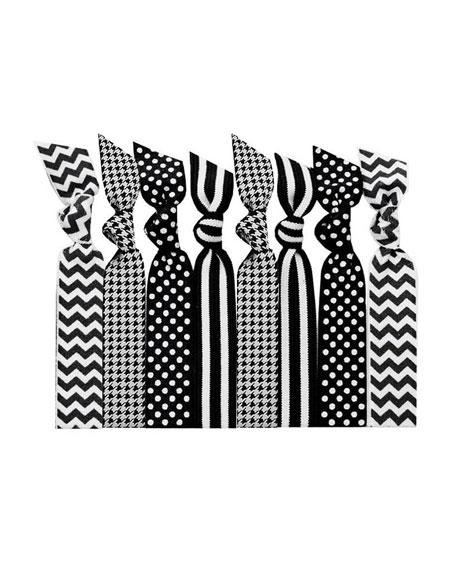 Black Tie Hair Ties in Paint Tin