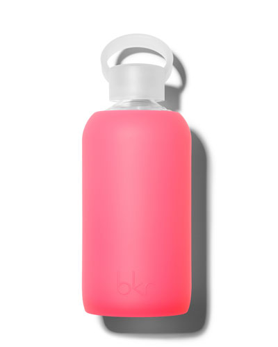 Glass Water Bottle, Rosy, 500 mL